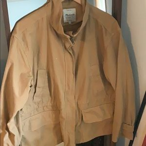 Madewell khaki jacket. 4 pockets. Size XL
